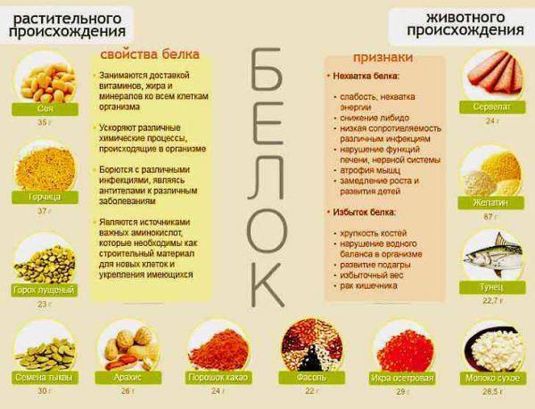 У яких продуктах міститься білок