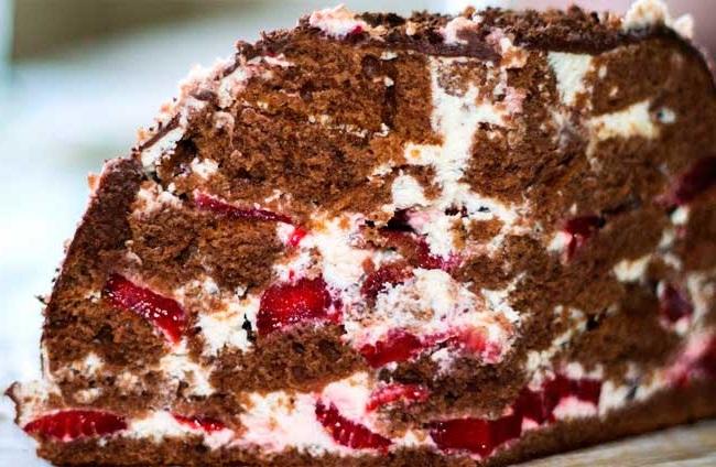 торт панчо з фруктовою начинкою