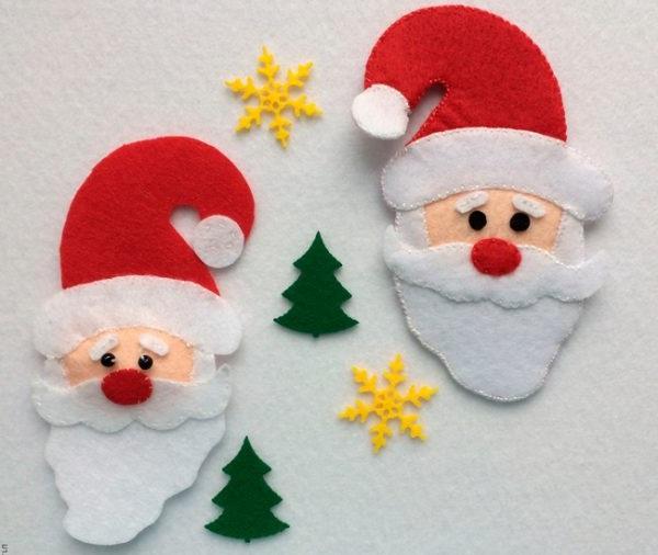 новорічні іграшки із фетру