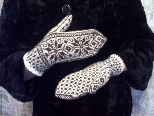 як в'язати рукавиці