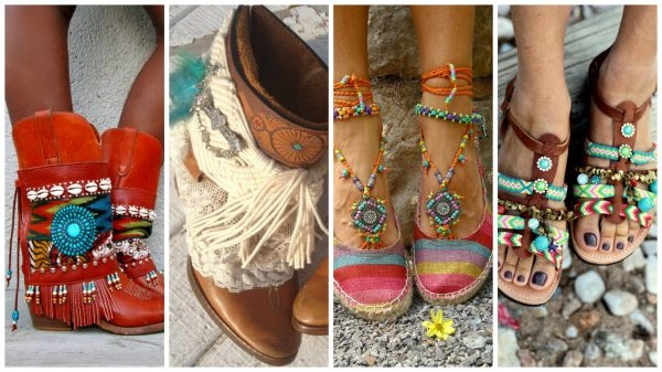 взуття в стилі бохо