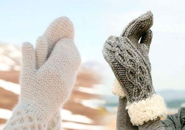 як зв'язати рукавички