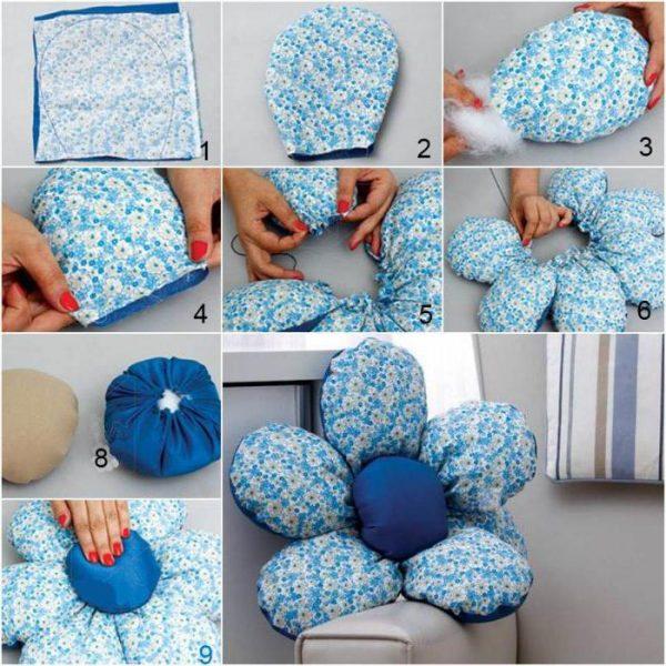 Як зробити подушку у вигляді квітки покрокова інструкція