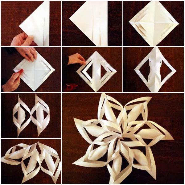 сніжинки з паперу схеми
