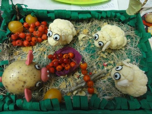 композиції з овочів фото