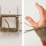 схема в'язання рукавиць спицями