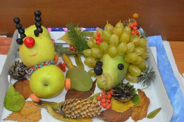 осінні композиції з овочів