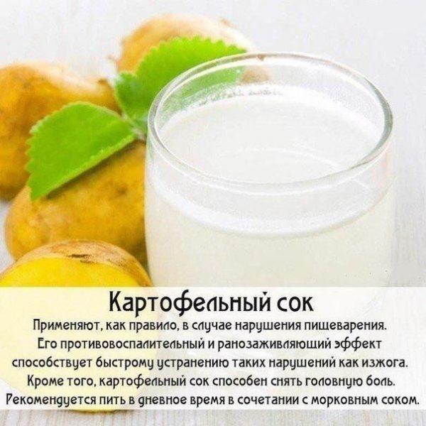 картопляний сік при печії