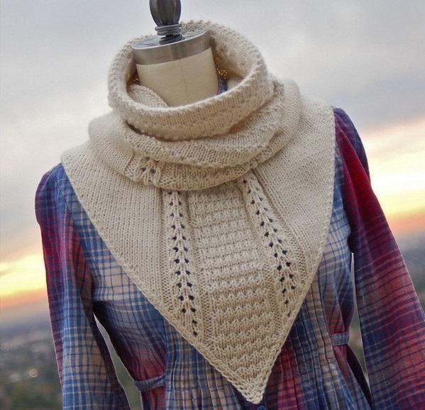 як зв'язати шарф хомут