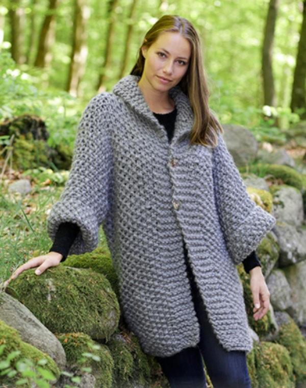 як зв'язати пальто спицями