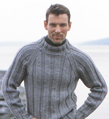 чоловічі светри в'язані спицями