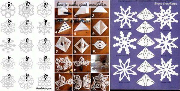 новорічні гірлянди з паперу своїми руками