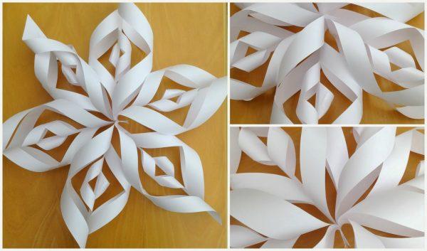новорічні сніжинки з паперу