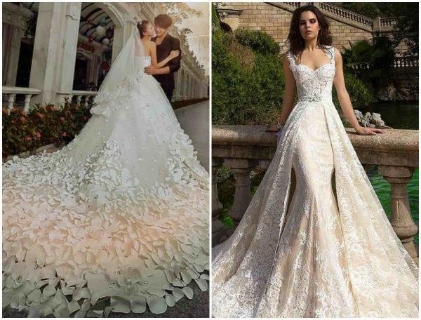 100 Фото ᐈ Модні тенденції весільних суконь 2018 b7c5fed83fa06