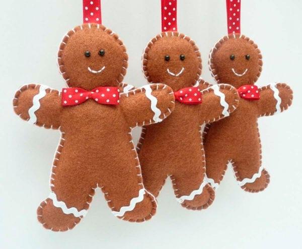 новорічні іграшки своїми руками на ялинку з фетру