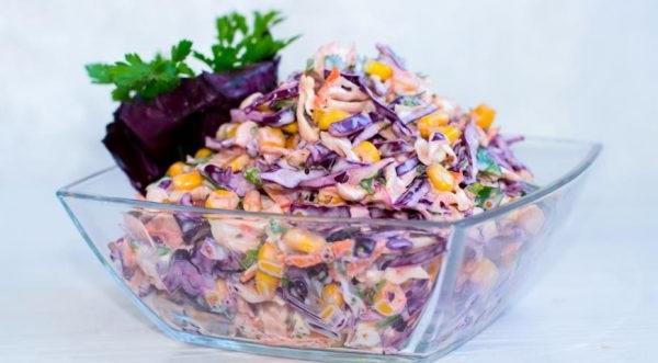 Американський салат з червоної капусти