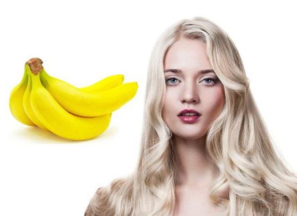 маска для блиску волосся з бананом