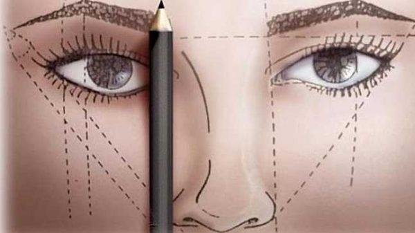 як правильно малювати брови олівцем відео