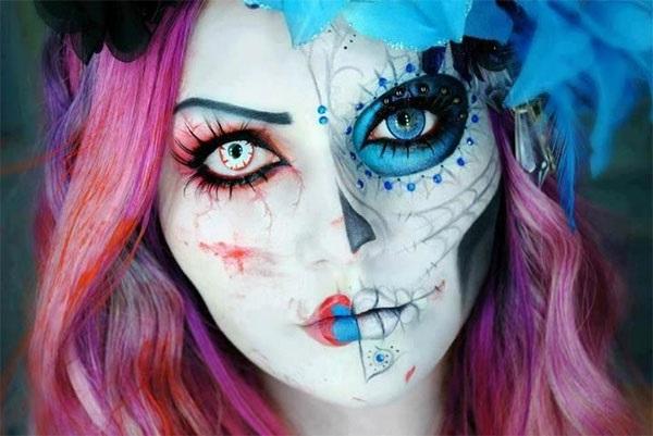 макіяж на Хеллоуїн мертва наречена