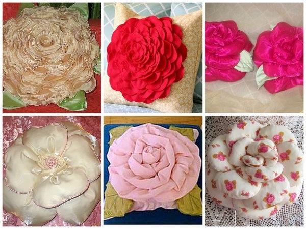 подушки у вигляді квітів