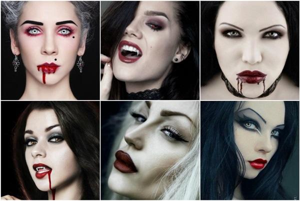 макіяж на хеллоуїн вампірші