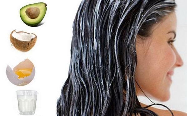 маски для блиску волосся