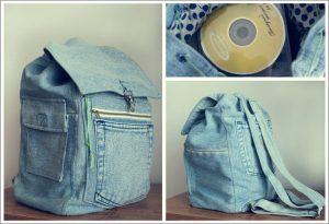 як зробити рюкзак з джинсів