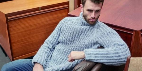 в'язання чоловічого светра гольфа спицями
