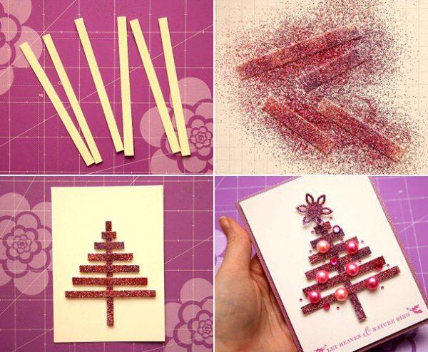 новорічні листівки своїми руками для дітей