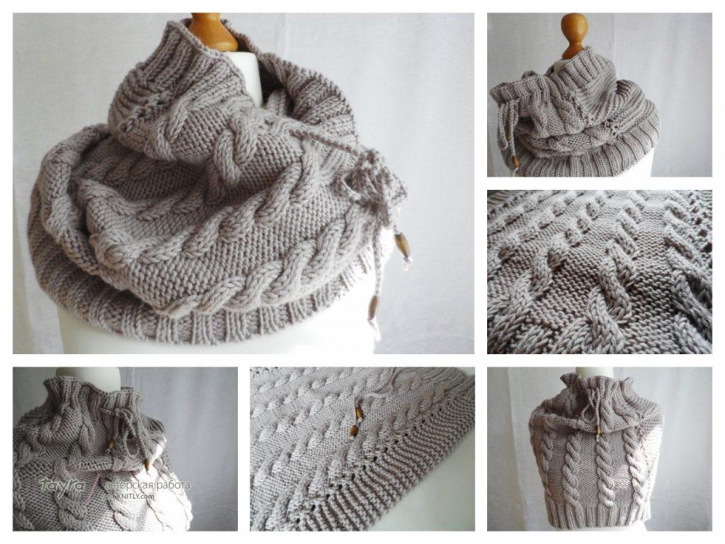 Як зв язати красивий снуд (шарф хомут) спицями  схеми з описом 13db50218ee42