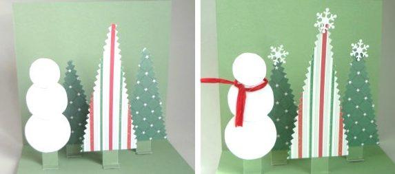 новорічні листівки своїми руками з паперу