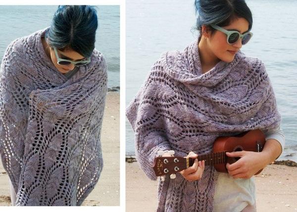 жіночий широкий шарф фото