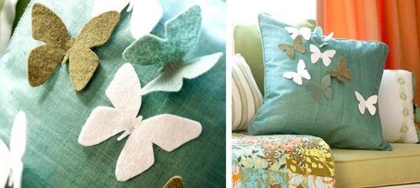 Декоративна подушка з метеликами