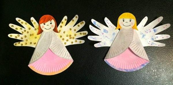Як зробити ангела з пластикових тарілок