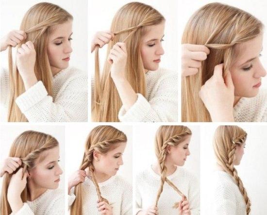 легкі зачіски на довге волосся