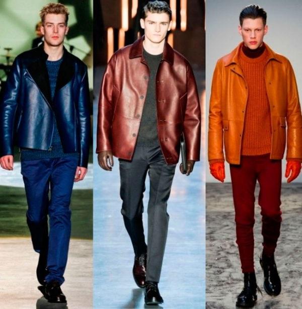 чоловічі куртки зі шкіри