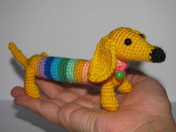 амігурумі собачка схема