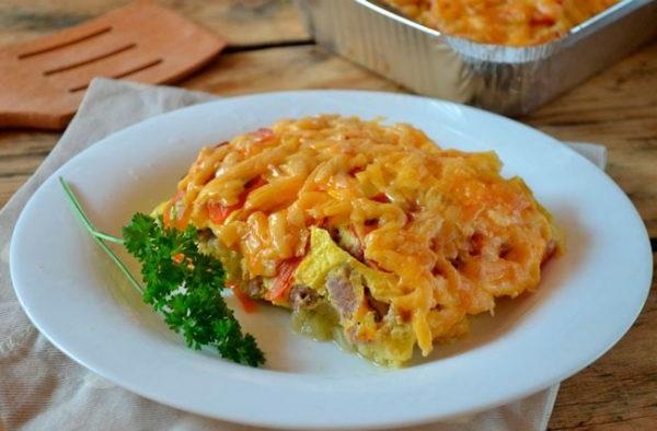Рецепт запіканки з кабачків з фаршем і рисом