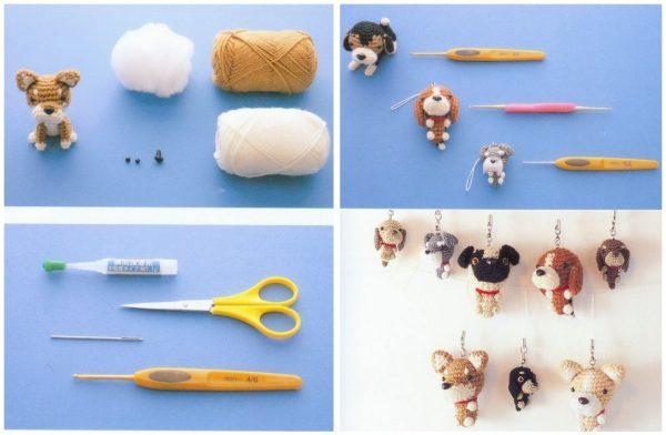 вязание крючком собак схемы