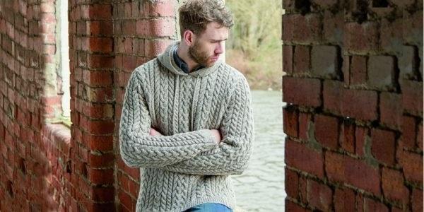 чоловічі светри в'язані спицями схеми