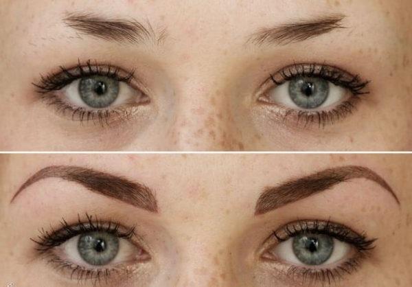 Фото до і після татуажу брів