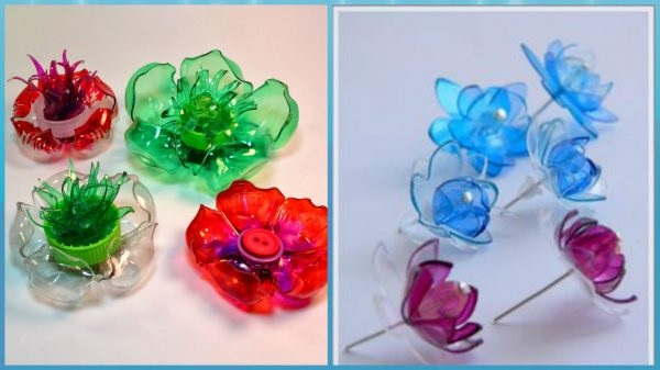 вироби з пластикових пляшок квіти