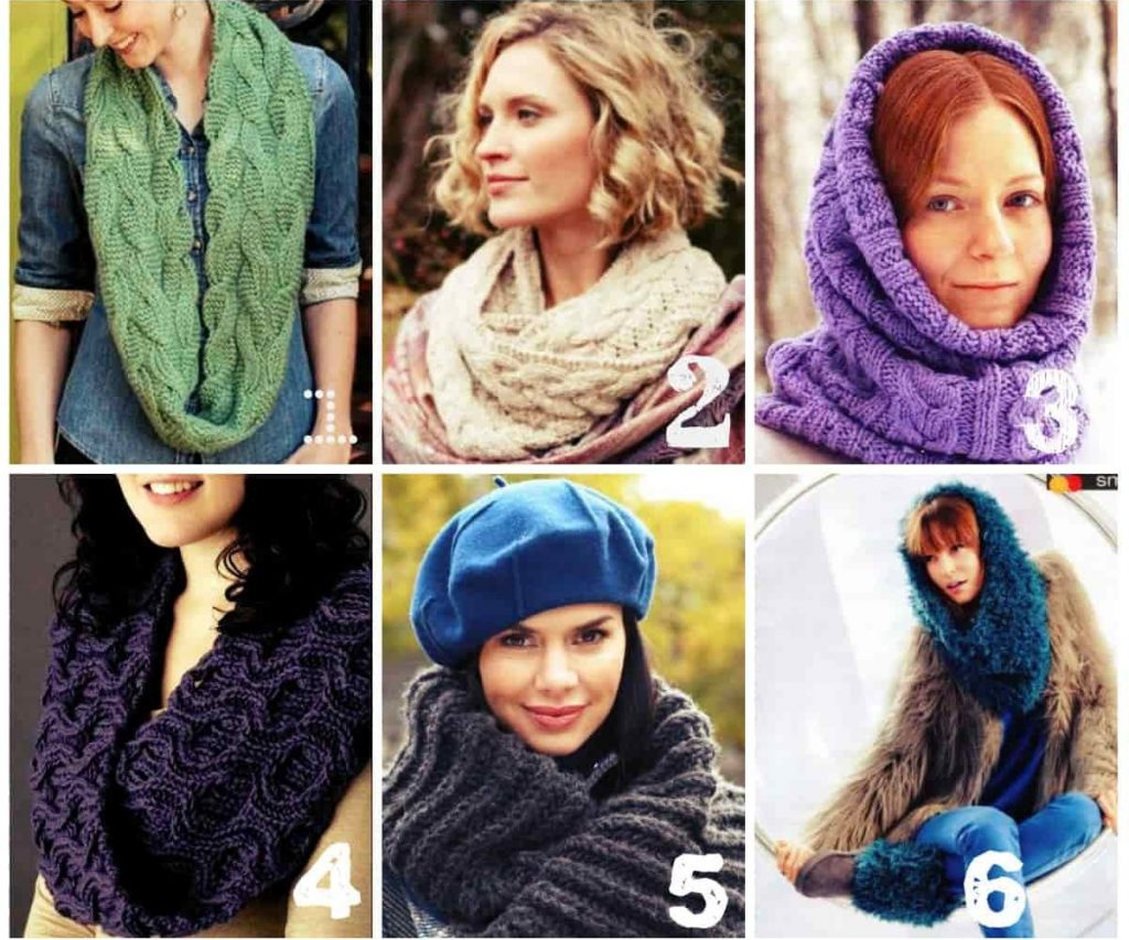 як зв язати шарф хомут