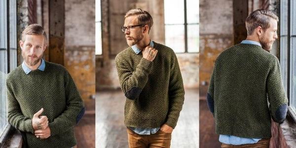 в'язання чоловічого светра спицями