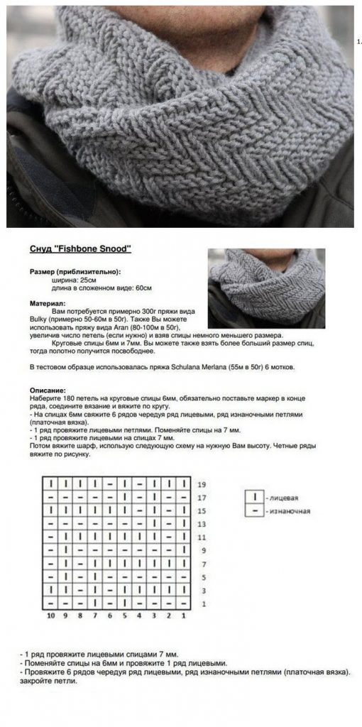 схема шарф хомут