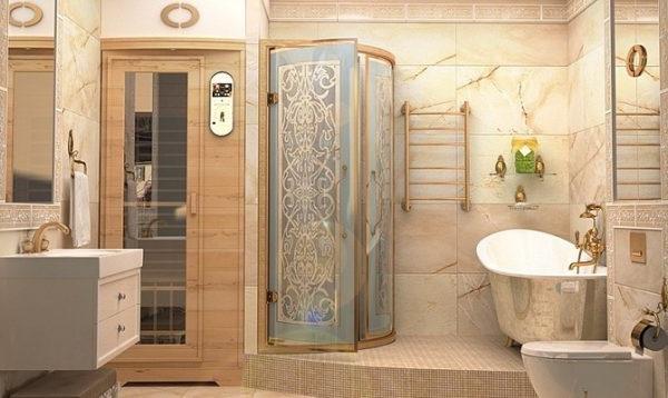 ванна кімната з душовою кабіною фото