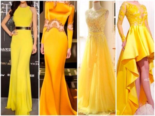 Жовті вечірні сукні