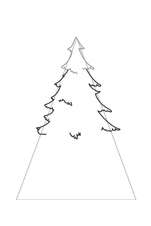 новорічна ялинка малюнок