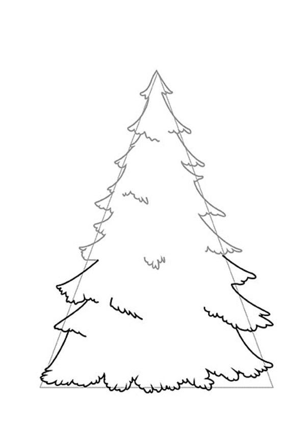 малюнок новорічної ялинки