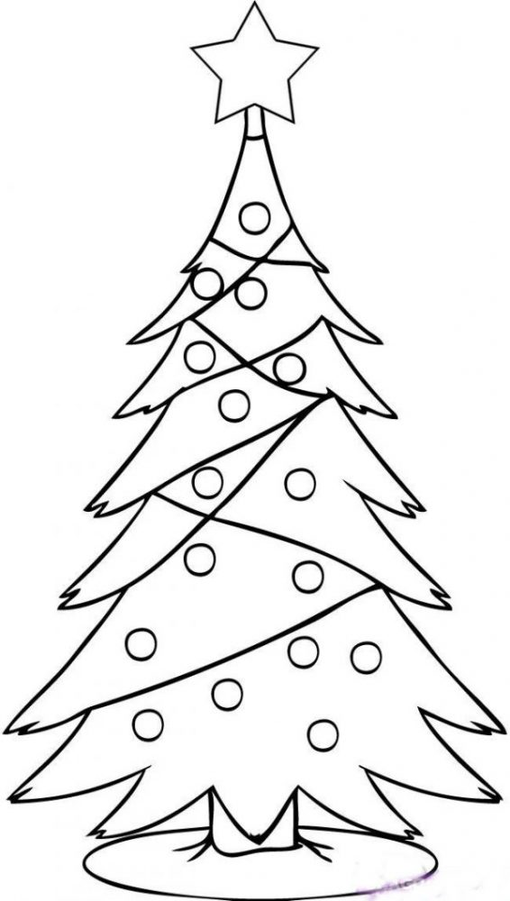малюнок новорічна ялинка
